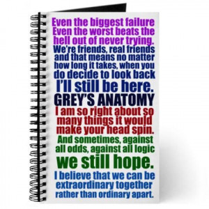 Grey's Anatomy Quotes On Friendship | Friendship Quotes Notebooks ...