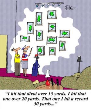 Golf Cartoon: Golf Trophies - Jerry King