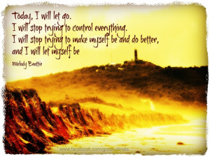 ... and I will let myself be.