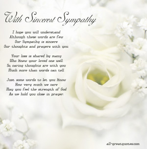 CLICK FOR – Sympathy Poems CLICK FOR – Sympathy Card Messages To ...
