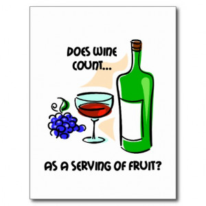 Funny wine humour saying postcards