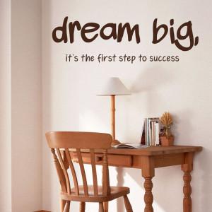 Dream BIG Vinyl Wall Lettering Words Decal Art Quotes - big dreams ...
