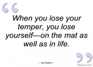 when you lose your temper