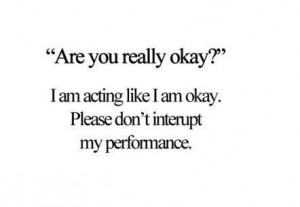 """Are you really okay?"""" – Quote"""