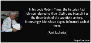 Mussolini Quotes More ravi zacharias quotes