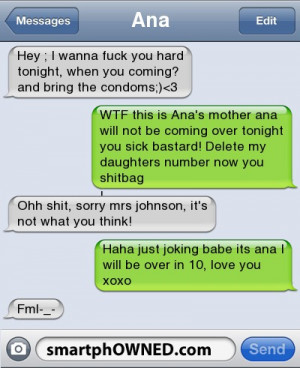 fml, funny, haha, message, smartphowned - inspiring picture on Favim ...