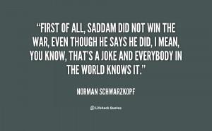 Norman Schwarzkopf Quotes
