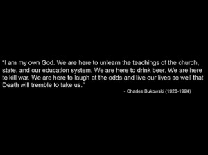 bukowski, charles bukowski, quote, text, words