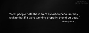Hate The Idea of Evolution Wallpaper