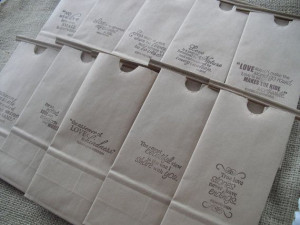 Wedding Favor Bags Kraft Paper Coffee bags by dazzlingexpressions, $10 ...