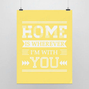Sayings You Home Modern Minimalist Pop Poster Inspirational Home Wall ...
