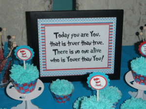 Dr Seuss Thing 1 & Thing 2 birthday party Super cute - have different ...