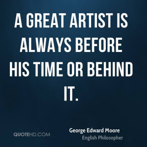 George Edward Moore Time Quotes