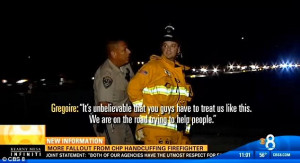 Police officer caught on camera handcuffing a FIREFIGHTER as he was ...
