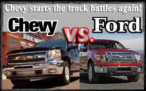 Chevy starts the truck battles again! Chevy vs. Ford vs. other