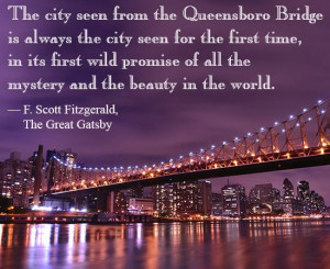 Gatsby quote about New York
