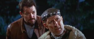 James Cromwell (Dr. Zefram Cochrane) and Jonathan Frakes (Commander ...