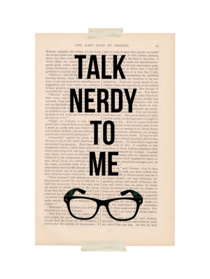funny quote dictionary art - TALK NERDY To ME - dictionary print. $9 ...