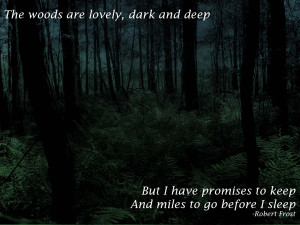 lovely, dark and deep… -Robert Frost motivational inspirational love ...