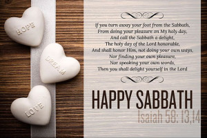 sabbath, from doing thy pleasure on my holy day; and call the sabbath ...