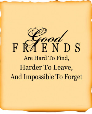Would you agree that it is hard to find GOOD friends ?