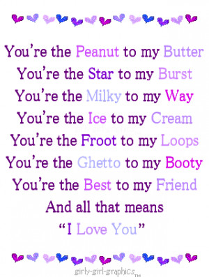 You're the ice of my cream ~ Being In Love Quote