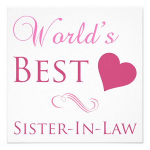 World's Best Sister-In-Law (Heart) Personalized Invitation from Zazzle ...