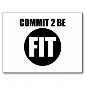 Commit to be Fit Post Cards