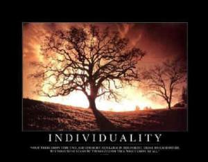 Conformity Developes Individuality