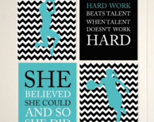 Girls basketball player wall art, S he believed she could, girls ...
