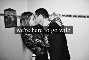 ... and white, blackandwhite, couple, cute, kiss, note, quote, typography