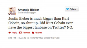 Justin Bieber Superfan Burns Kurt Cobain By Saying He Wasn't Huge on ...