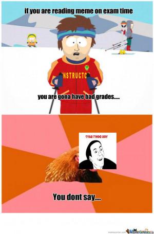 Meme Equals Bad Grades