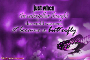 became a butterfly. #PictureQuotes, #Inspirational, #Life, #Butterfly ...