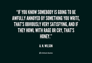 quote A N Wilson if you know somebody is going to 100150 png