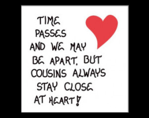 Cousin Refrigerator Magnet Quote ab out close relatives, red heart ...