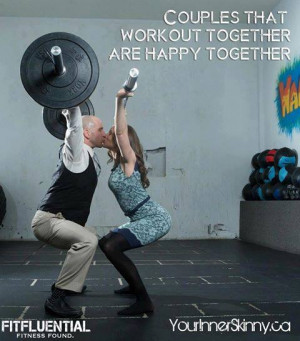 Couples that workout together are happy together