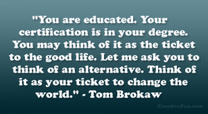 Tom Brokaw Quote