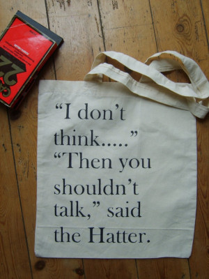... Lewis Carroll Quote, Alice In Wonderland Quote Mad, Bags Canvas, Mad