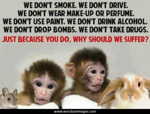 Against animal testing quotes