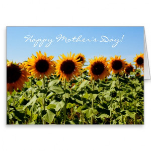 Sunflower Mother's Day Bible Quote Christian Cards