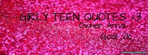 teen quotes facebook cover photo