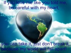 Don't break my heart!