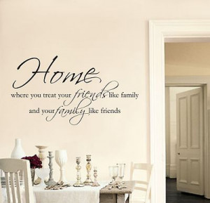 Home Friends Family wall art sticker quote Living room / Hallway ...