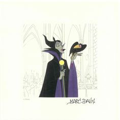 Marc Davis design for Maleficent from Sleeping Beauty More