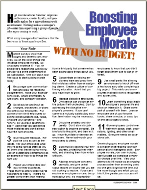 how to build staff morale