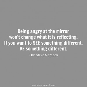 Being angry at the mirror won't change what it is reflecting. If you ...