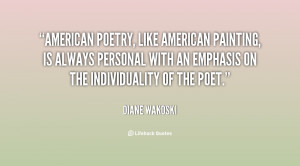 American poetry, like American painting, is always personal with an ...