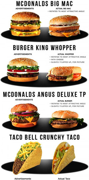 View Full Size | More fast food ads vs reality funny quotes jokes and ...