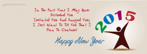 Happy New year 2015 greeting card and wishes